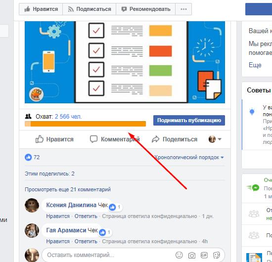 создание контента для фейсбук